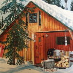 Painting of Stewart Cubley's first Cabin in Alaska (Episode 16 of The Painting Experience Podcast: Trusting the Wild Self (Part 1))