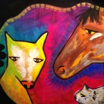 Painting of colorful animals (Episode 4 of The Painting Experience Podcast: Not Interpreting)