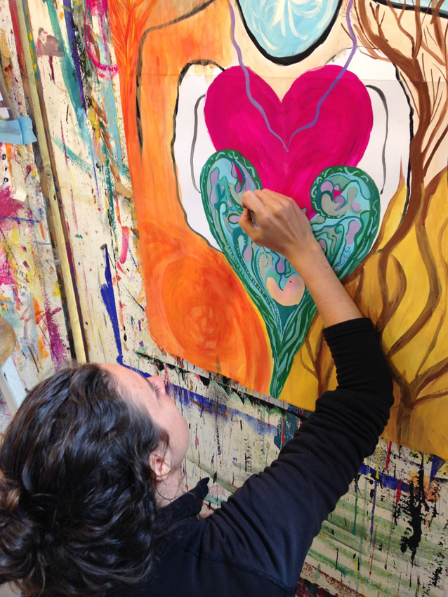 How self-compassion supports process painting