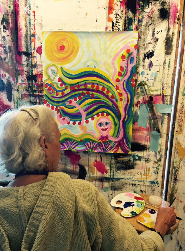 Painting for process at Esalen