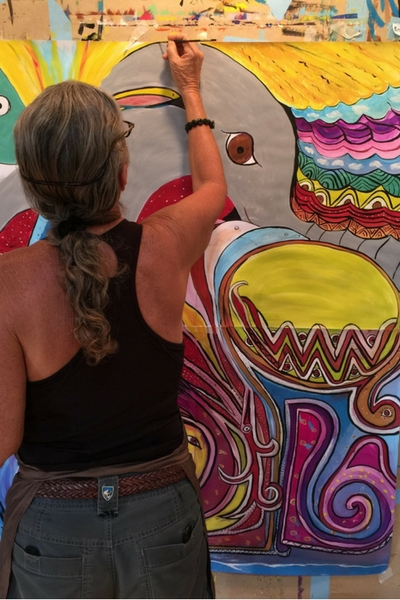 Painting at the Hui Ho'olana Sanctuary on Moloka'i | The Painting Experience Blog
