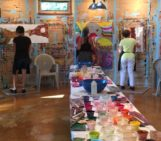 Painting in the Hui Ho'olana yurt on Molokai | The Painting Experience Blog