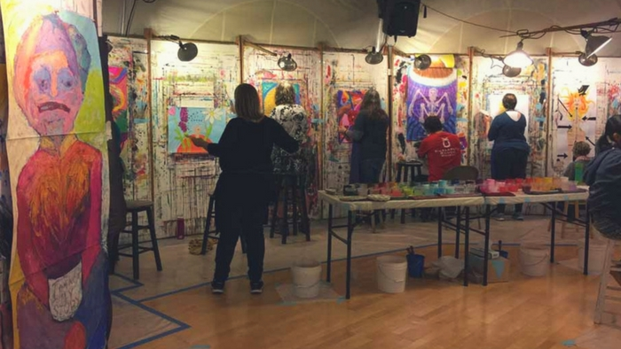Process Painting Studio with The Painting Experience at the Esalen Institute