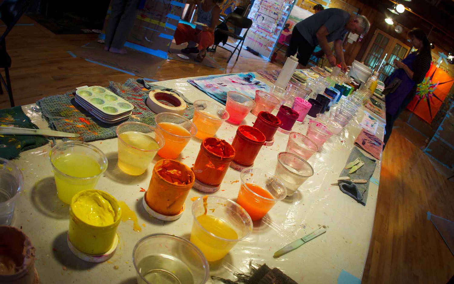Photo of The Colorful Painting Process Palette