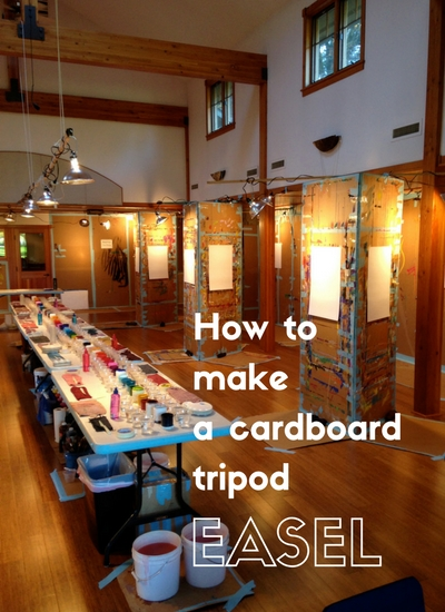 How to Make a Cardboard Tripod Easel | The Painting Experience Blog