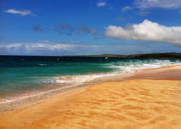 A beautiful beach on the Hawaiian island of Molokai