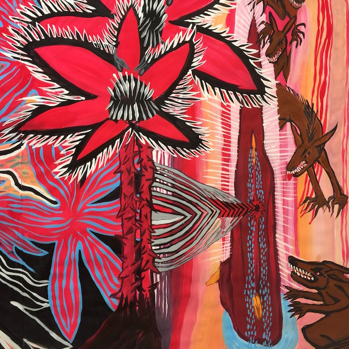 No Way, Big Red Flower   Caroline McCartie   The Painting Experience Blog